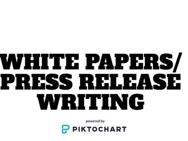 White Papers/Press Release Writing