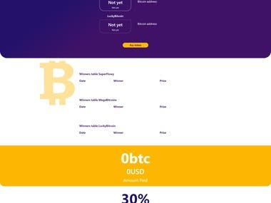 Bitcoin lottery website