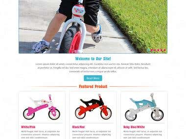 Kids Bike Selling Website