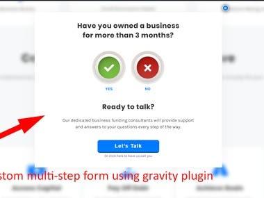Custom Multi-step form