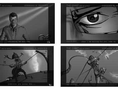 STORYBOARDS FOR TV ADDS/ FILMS