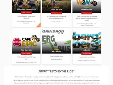 BEYOND THE RIDE - Write a review of a Mountain Bike Race, Sh