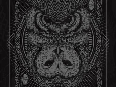 Dark Celtic Owls