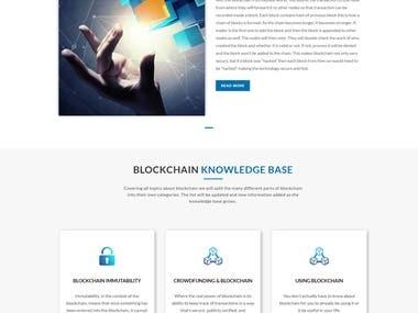 BOOTSTRAP/HTML TO WORDPRESS - BLOCKCHAIN WEBSITE