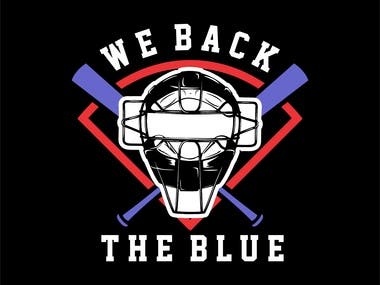 T-shirt DESIGNE : WE BACK THE BLUE