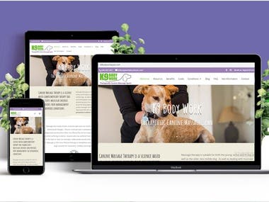 Dog Bodywork Website - Design