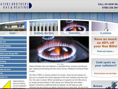 Waters Brothers Gas and Heating Website