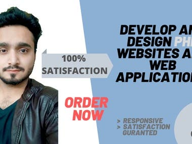 I will develop and design php websites and web applications