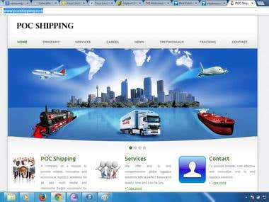 Shipping Website