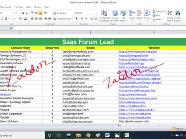 Lead Generation (Saas Forum project)