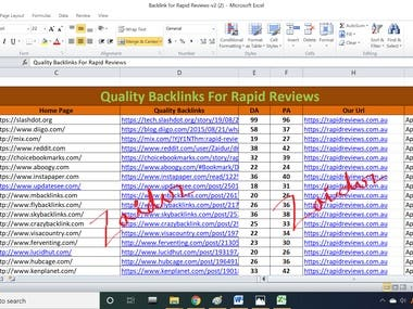 Quality Backlinks for Rapidreviews.com