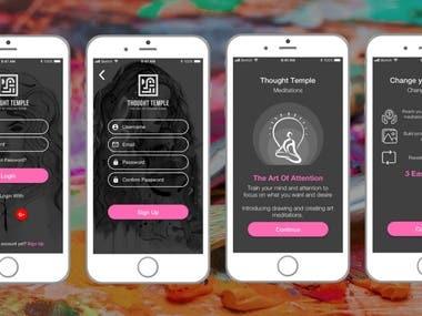 React Native Mobile App Design of 4 Screens 100% responsive