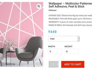 WooCommerce product price calculator