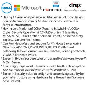 Specialist for Cloud,Servers,Networks,Website & Citrix