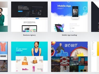 Wordpress Templates | UI/UX design