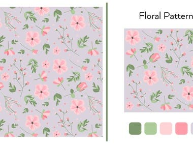 Seamless Pattern to Print - Floral Designs -