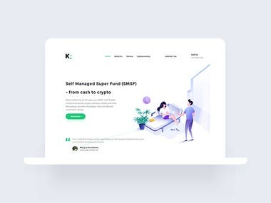 Illustration and Landing page design