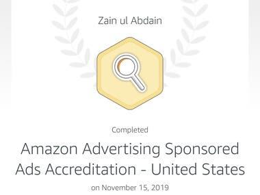 Amazon Advertising Sponsored Ads Accreditation - United Stat