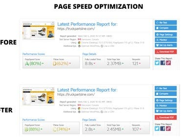 Page Speed Optimization Truck Part