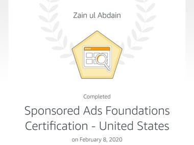 Sponsored Ads Foundations Certification - United States