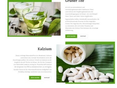 Nura Shop - The best of nature Website