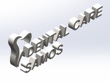 3D WALL LOGO DESIGN FOR A DENTAL CLINIC