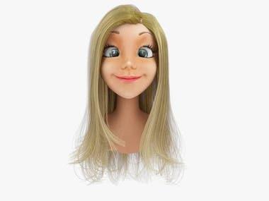 Rigged Cartoon Woman Head