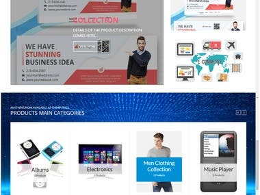 E-Commerce Specially Develop for Freelancer Website Display