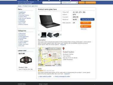 Auc4Less product page (online auction)