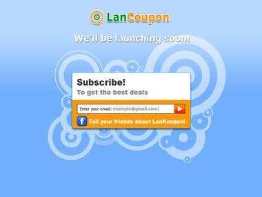 LanKoupon landing page