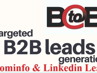 B2b Lead Generation✔ Quality B2B Leads to Marketing Campaign