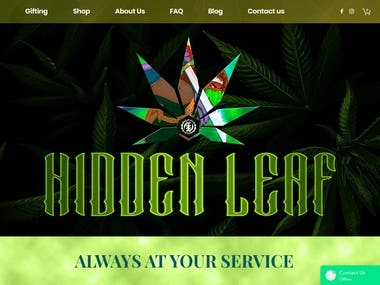 WIX Website - HIDDENLEAF DC - hiddenleafdc.com