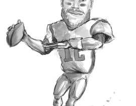 #4 for 1 Football Player Caricature by erichenrique