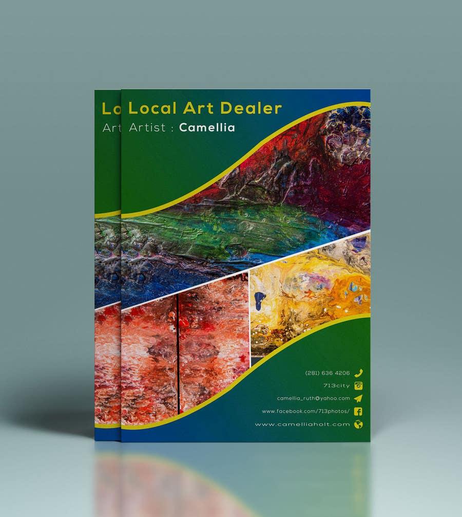 Kilpailutyö #10 kilpailussa Local Art Dealer Flyer