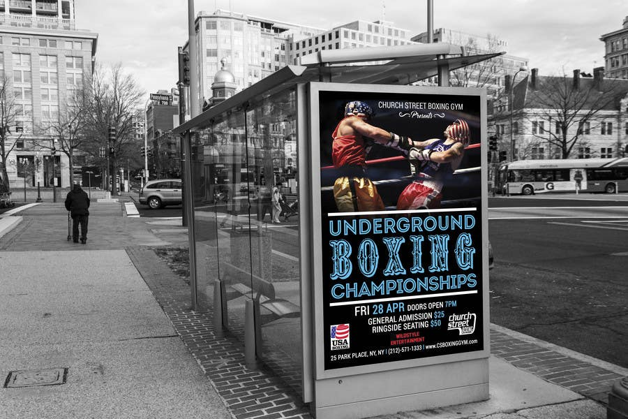 Proposition n°53 du concours Design a Poster for a Boxing Event on April 28