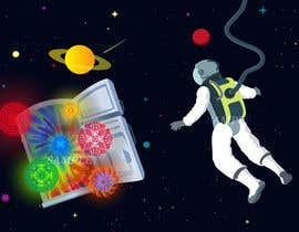 nº 4 pour Adobe illustrator - Astronaut flying away from Refrigerator with random things flying out par faheemul