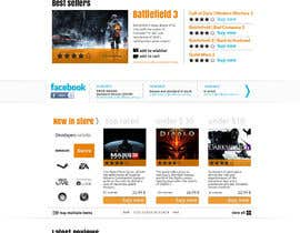 Nro 8 kilpailuun Website Design for CDKEY Warehouse for interspire shopping cart käyttäjältä hipnotyka