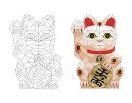 nº 35 pour Design a triangulated Maneki-neko Logo par lobsanggg