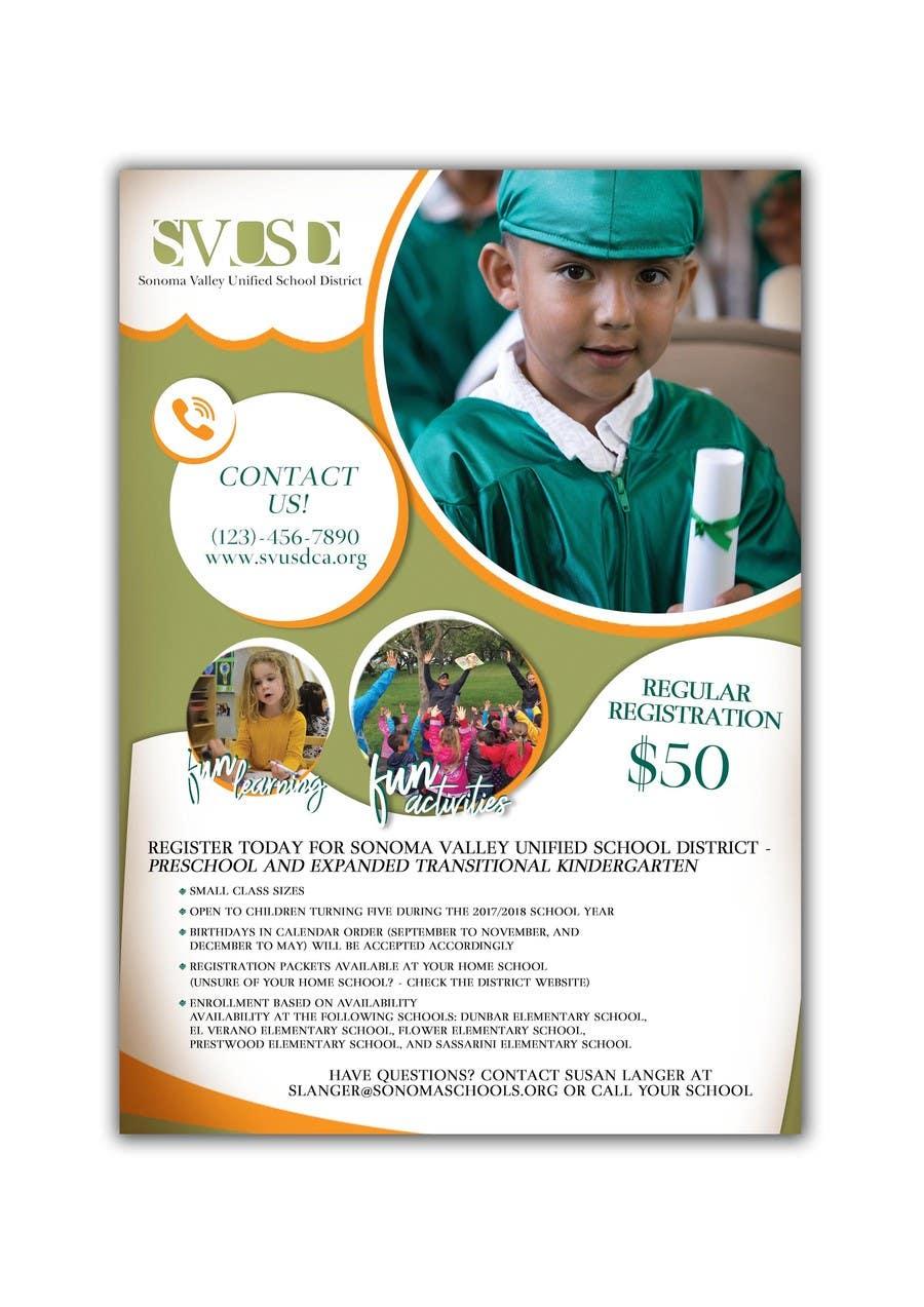 Proposition n°83 du concours Education Preschool and Kindergarten Registration Flyer