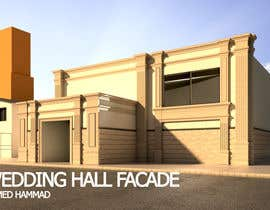 nº 12 pour design a building(wedding hall) facade par ahmdhammad