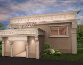 nº 8 pour design a building(wedding hall) facade par luluulfauziyah