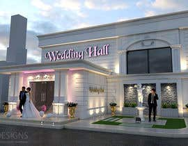 nº 10 pour design a building(wedding hall) facade par ahmedzaghloul89
