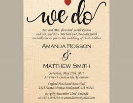 #19 para Design a Wedding Invite de sultanglt