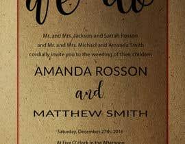 #11 para Design a Wedding Invite de DesignStorm15