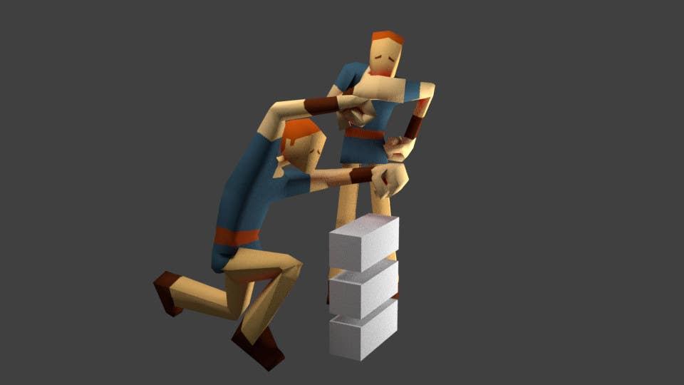 Entry #9 by qulashermit for Model a Low Poly 3d Character