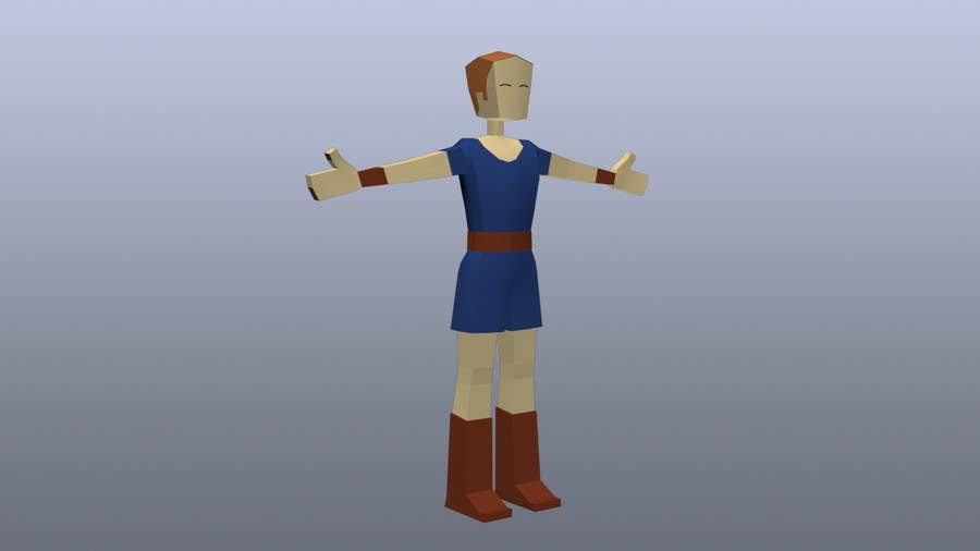 Entry #4 by TopCGer for Model a Low Poly 3d Character