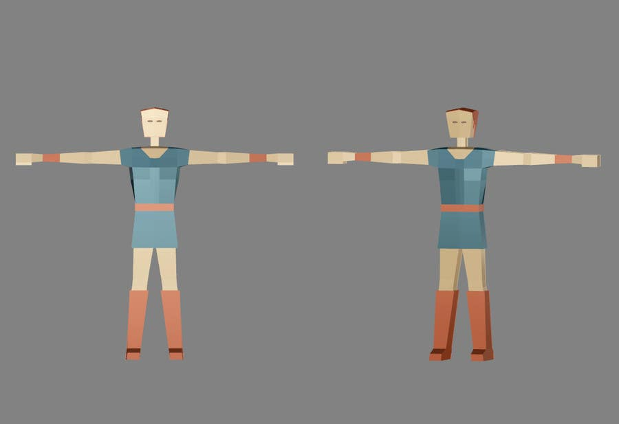 Entry #14 by huongho84 for Model a Low Poly 3d Character