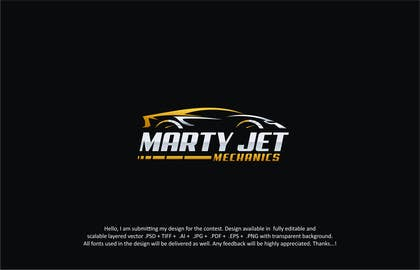 #182 for Marty Jet Mechanics by designpoint52