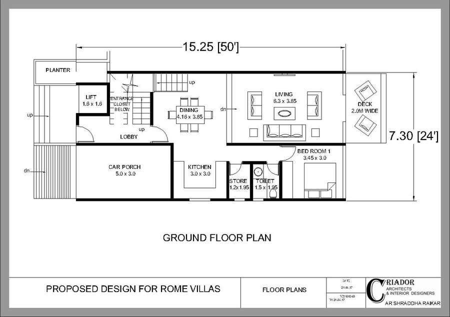 Proposition n°2 du concours Modern Concrete Townhome Design
