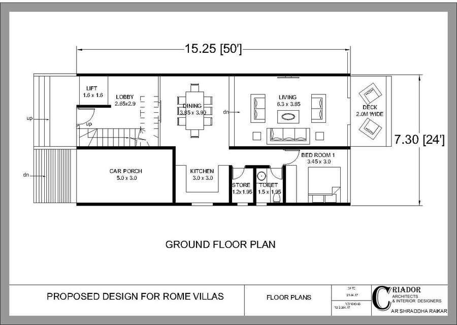Proposition n°3 du concours Modern Concrete Townhome Design